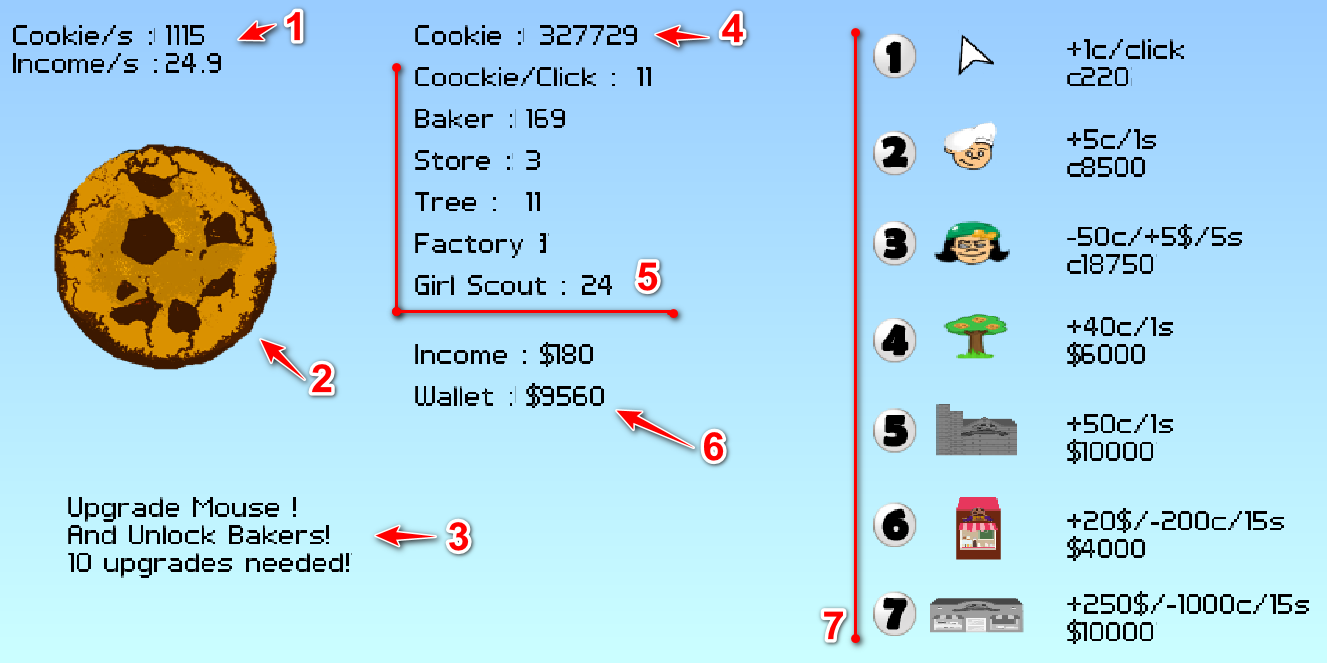 Game menu guide | Cookie Clicker Hacked - PLAY NOW